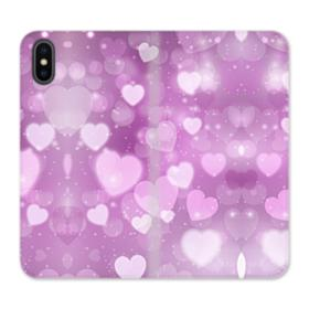 Aurora Hearts iPhone XS Wallet Leather Case