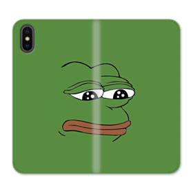 Sad Pepe frog iPhone XS Wallet Leather Case
