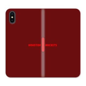 Houston Rockets Logo Red Bar iPhone XS Wallet Leather Case