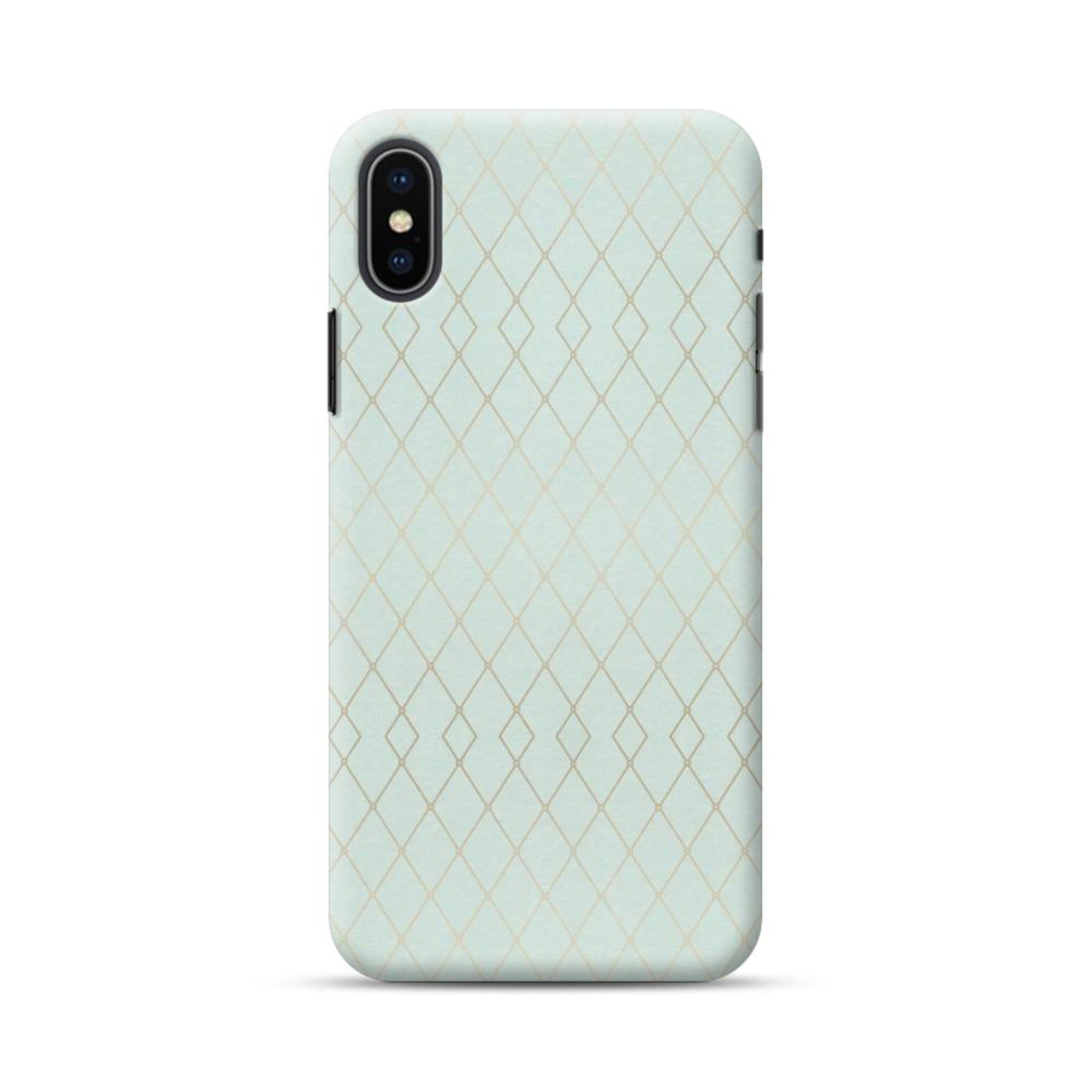 94ee0817ed417 Geometric Polyline Pattern in Mint Green iPhone XS Case