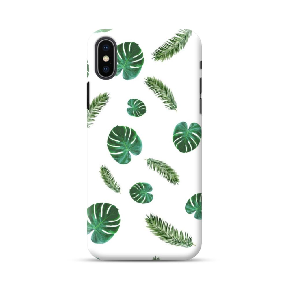 iphone xs case leaves