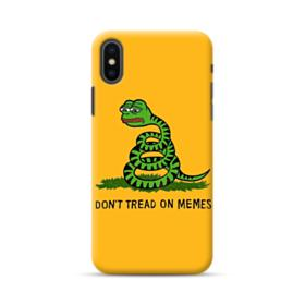 Pepe the frog don't tread on memes iPhone XS Case
