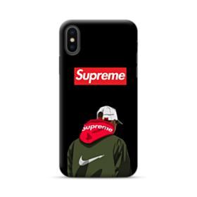 Supreme x Nike Hoodie iPhone XS Case