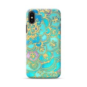 Lake Blue Mandala Pattern iPhone XS Case