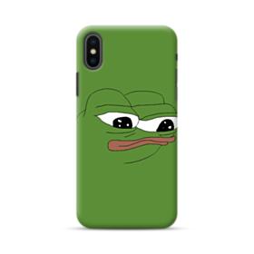 Sad Pepe frog iPhone XS Case