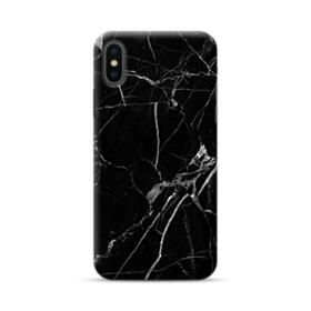 Black & White Marble iPhone XS Case