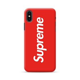 Red Supreme iPhone XS Case