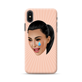 Crying Kim emoji kimoji iPhone XS Case