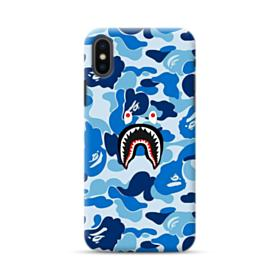Bape Shark Blue Camo iPhone XS Case