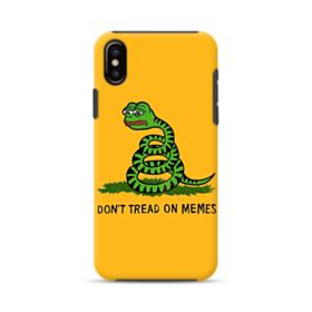 Pepe the frog don't tread on memes iPhone XS Hybrid Case