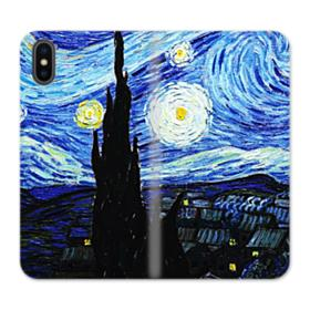 The Starry Night Vincent van Gogh iPhone XS Max Wallet Leather Case