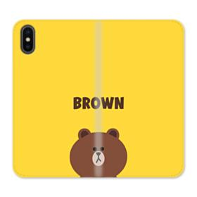 Line Friends Brown iPhone XS Max Wallet Leather Case