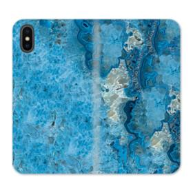 Peacock Blue Marble iPhone XS Max Wallet Leather Case