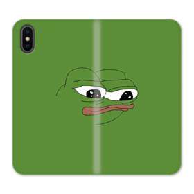 Sad Pepe frog iPhone XS Max Wallet Leather Case