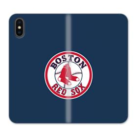 Boston Red Sox Logo iPhone XS Max Wallet Leather Case