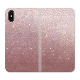 Rose Gold Glitter iPhone XS Max Wallet Leather Case