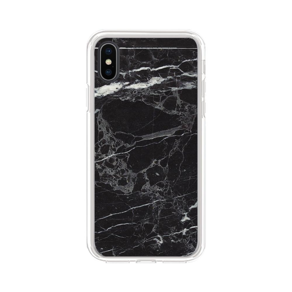 size 40 e9d45 79046 Black & White Marble iPhone XS Max Clear Case