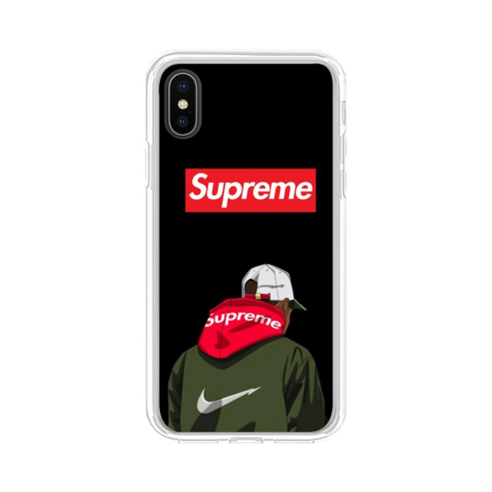 info for 435a9 4e765 Supreme Hoodie Boy iPhone XS Max Clear Case