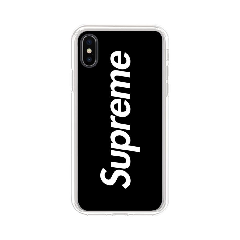 best service 032ec 13e1b Supreme Black Cover iPhone XS Max Clear Case