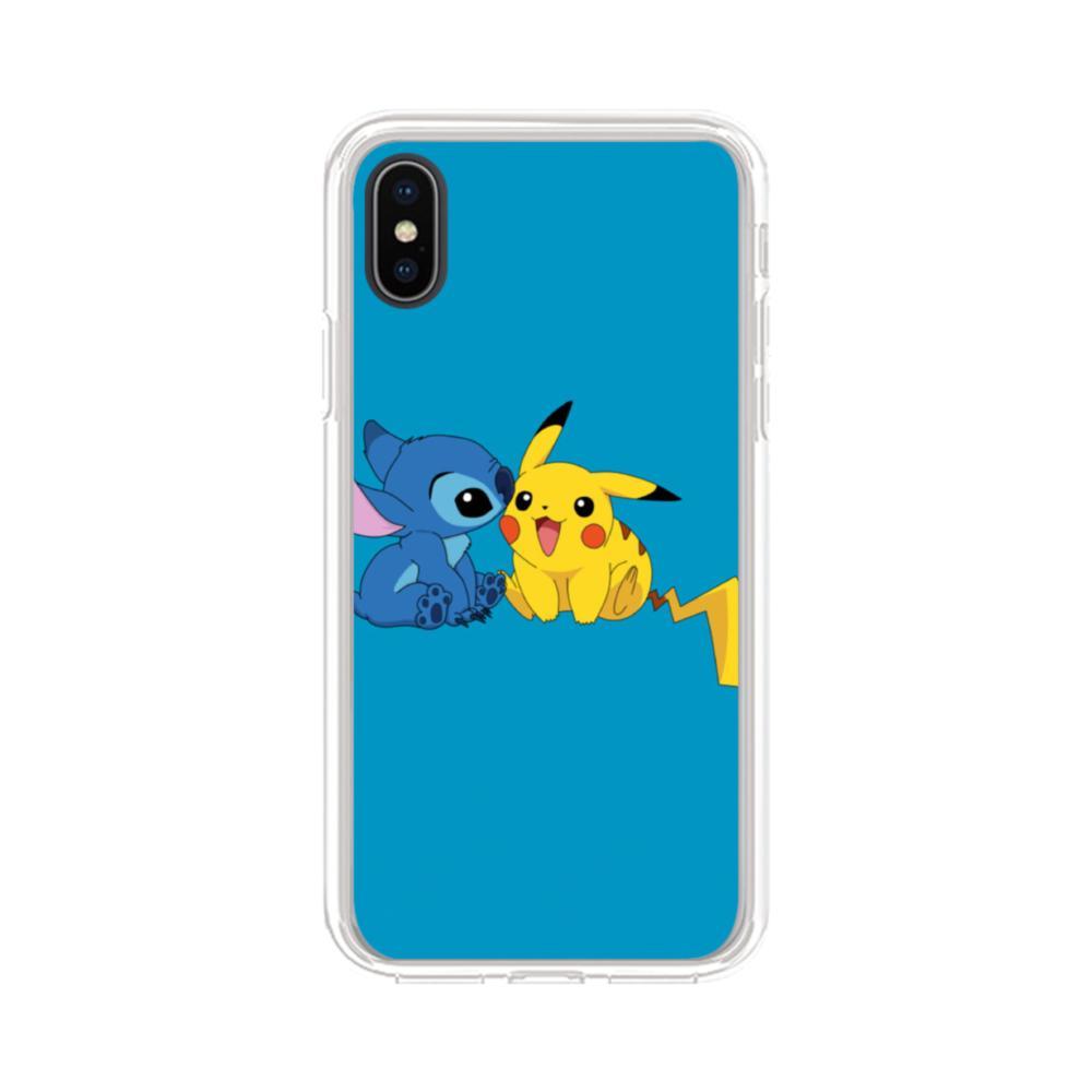 cheap for discount 41dce 9355e Stitch X Pikachu iPhone XS Max Clear Case