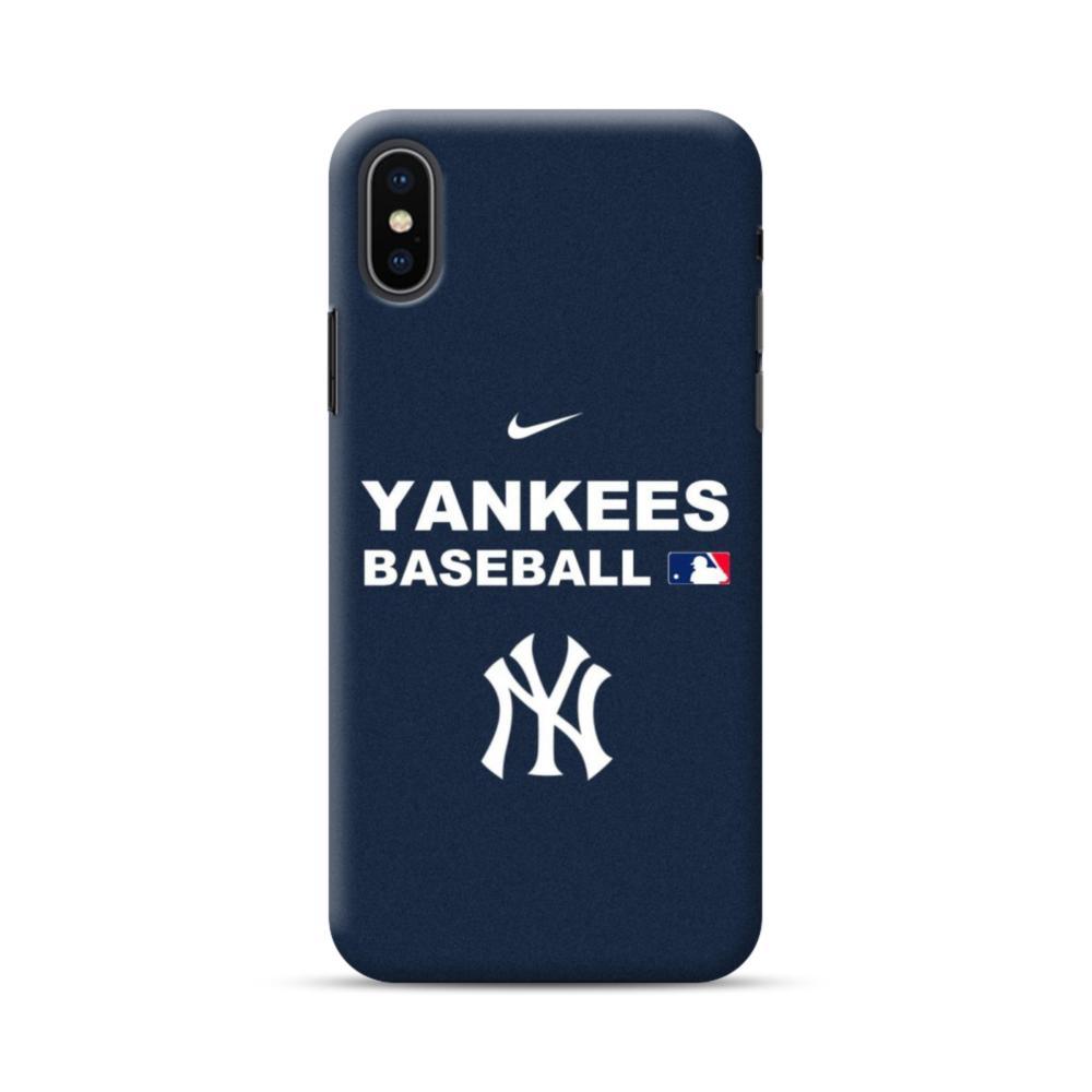 new york yankees team logo interlocking iphone xs max case caseformula