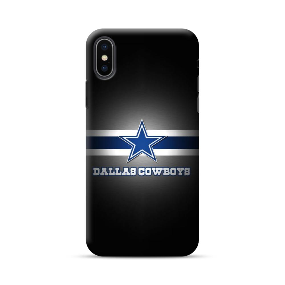 more photos cc3aa 5565e Dallas Cowboys Logo Blue White Banner iPhone XS Max Case