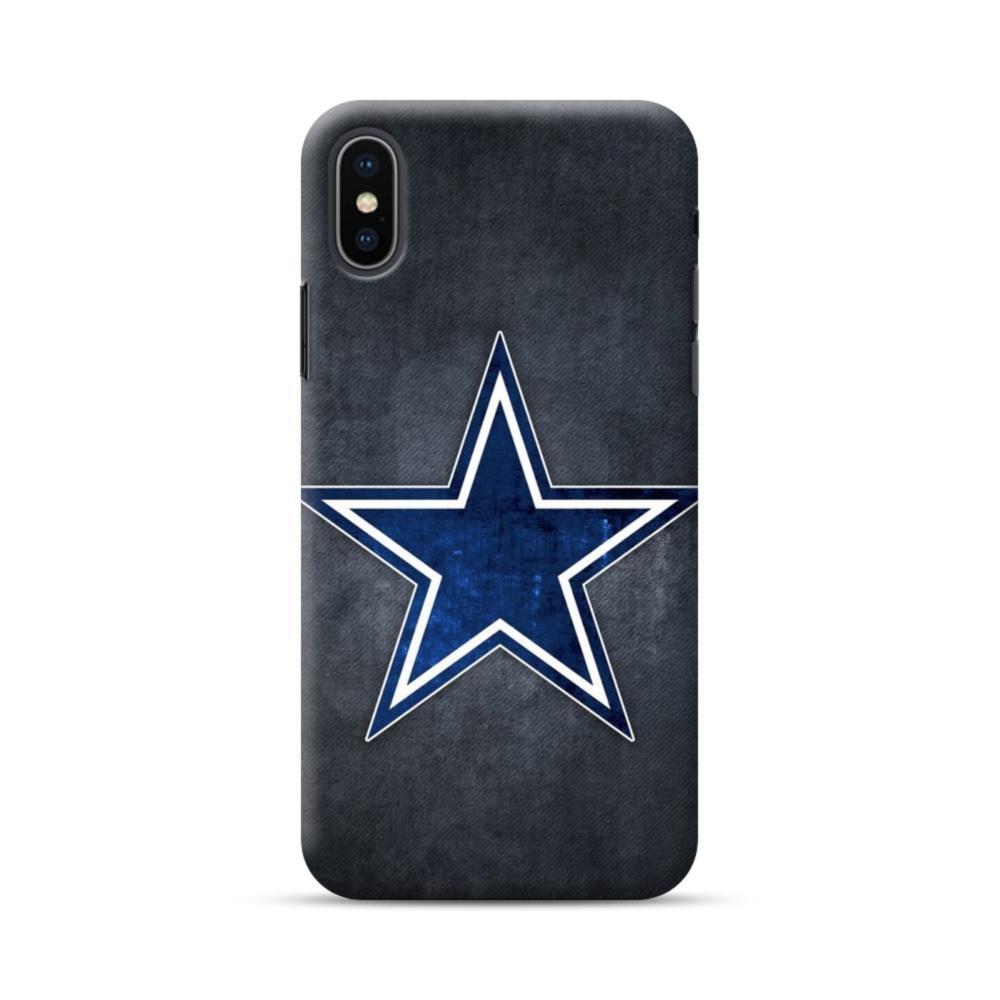 timeless design 85ce1 548d3 Dallas Cowboys Star Logo Grunge iPhone XS Max Case