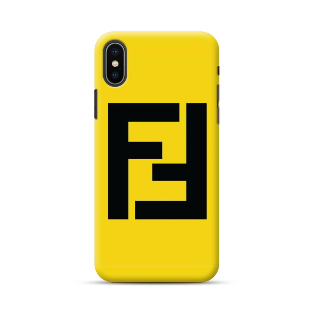 best service c8cf5 fb6ff Fendi Logo iPhone XS Max Case