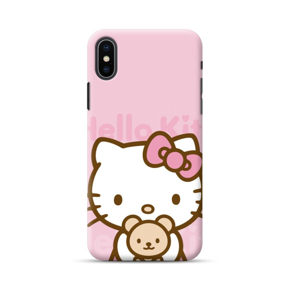 quality design ed8e4 1f585 Pink Hello Kitty iPhone XS Max Case