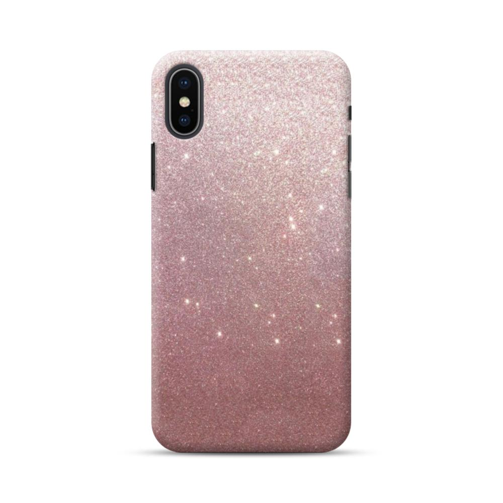 Rose Gold Glitter iPhone XS Max Case