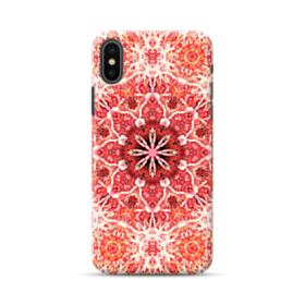 Red mandala flower iPhone XS Max Case