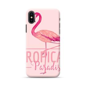 Tropical Bird Flamingo Drawing iPhone XS Max Case