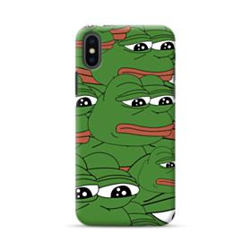 Sad Pepe frog seamless iPhone XS Max Case