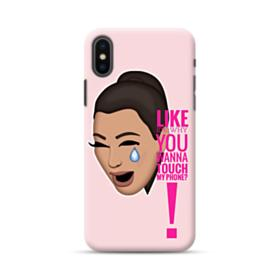 Crying Kim emoji kimoji meme  iPhone XS Max Case