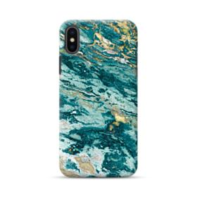 Turquoise and Gold Marble iPhone XS Max Case