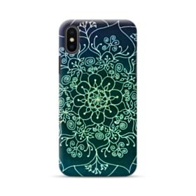 Cyan Mandala Pattern  iPhone XS Max Case