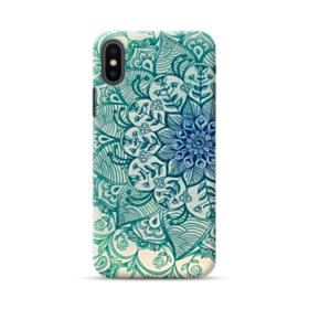 Emerald Mandala Pattern iPhone XS Max Case