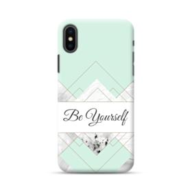 Be Yourself Tiffany Blue Marble iPhone XS Max Case