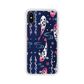 Fish Illustration iPhone XS Max Clear Case