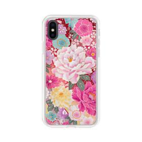 Sakura Vintage iPhone XS Max Clear Case