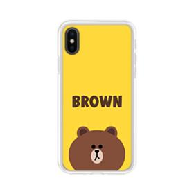 Line Friends Brown iPhone XS Max Clear Case