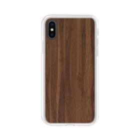 Dark Walnut Wood iPhone XS Max Clear Case