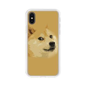 Doge meme iPhone XS Max Clear Case