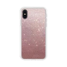 Rose Gold Glitter iPhone XS Max Clear Case