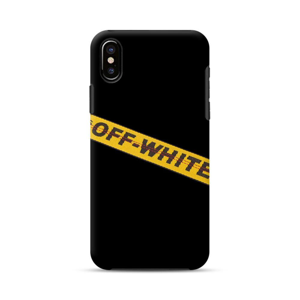 info for a9e0e 960d7 Off White Lining iPhone XS Max Hybrid Case