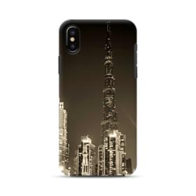 City night skyline iPhone XS Max Hybrid Case