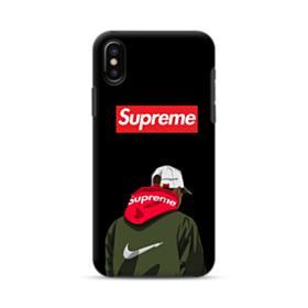 Supreme x Nike Hoodie iPhone XS Max Hybrid Case