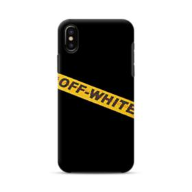 Off White Lining iPhone XS Max Hybrid Case