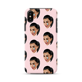 Crying Kim emoji kimoji seamless iPhone XS Max Hybrid Case