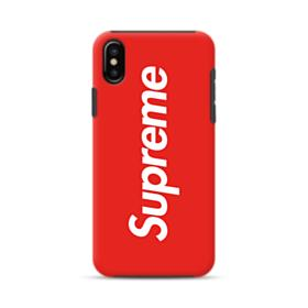 Red Supreme iPhone XS Max Hybrid Case